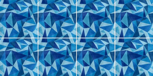 Fliesenaufkleber blau fliesenbild fliesen aufkleber sticker mosaik m7 - Selbstklebefolie mosaik ...