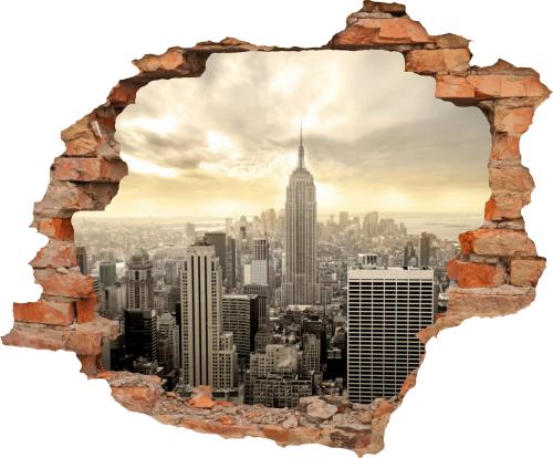 Wanddurchbruch new york usa aufkleber wandtattoo - Wand durchbruch ...