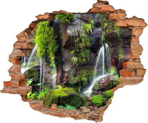 Wandbild Wasserfall Strand Aufkleber Wandtattoo Mauerdurchbruch