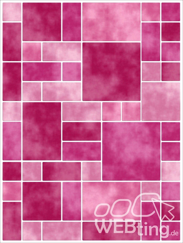 15x20cm pink rosa fliesenaufkleber fliesen aufkleber fliesenimitat mosaik m8 - Selbstklebefolie mosaik ...