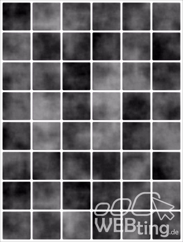 20x25cm schwarz fliesenaufkleber fliesen aufkleber for Mosaik aufkleber