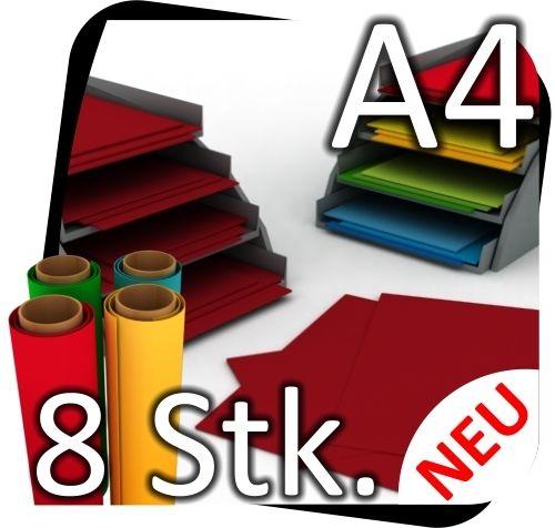 8x-DIN-A4-Bastelfolie-Mbelfolie-Folie-Plotterfolie-Klebefolie-zB-Dunkelrot-170915757890