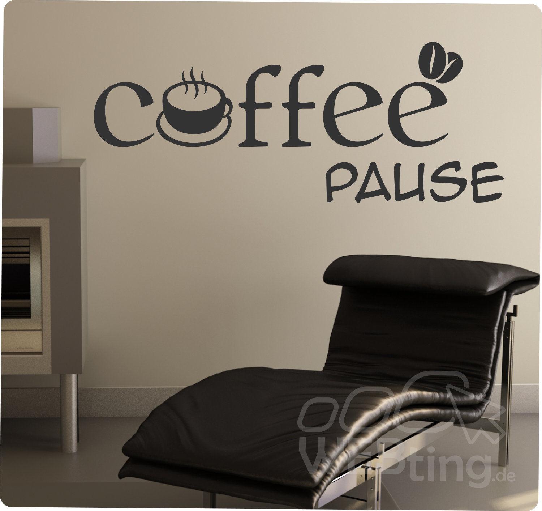 Coffee Lounge Küche Wandtattoo Wandaufkleber Aufkleber Sticker ...