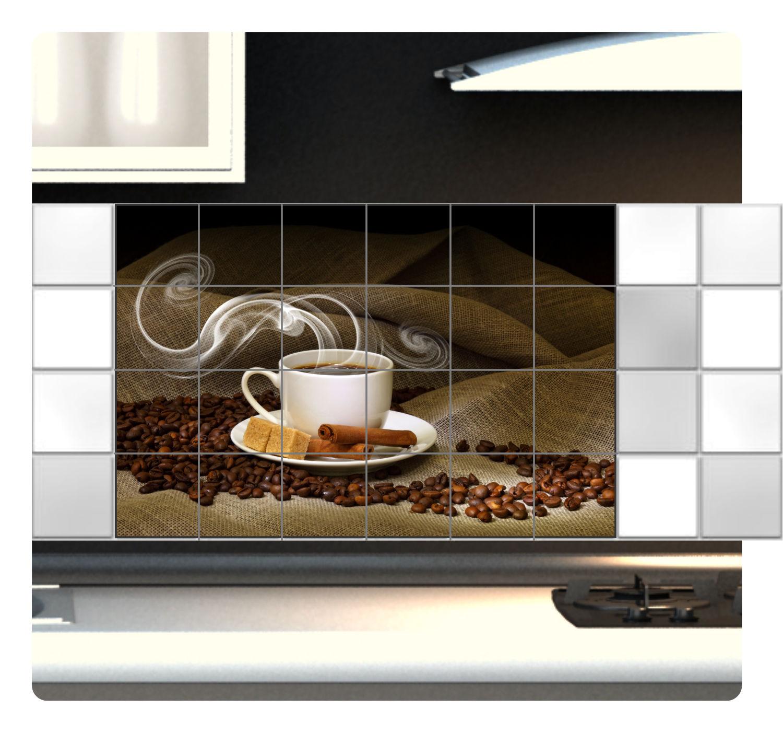 Fliesenaufkleber Bild Fliesenbild Fliesen Aufkleber Kaffee Bad Küche Deko FP1P25