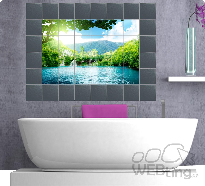 Fliesenaufkleber Fliesenbild Fliesen Aufkleber Sticker Badezimmer Bad Folie