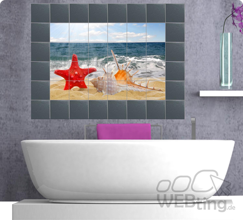 Fliesenaufkleber Fliesenbild Fliesen Aufkleber Sticker Badezimmer Bad Kuche Deko