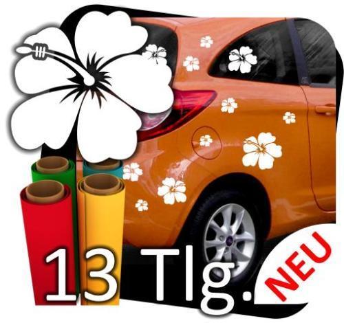 Hibiskus-Blume-Autoaufkleber-Aufkleber-Tattoo-Aufkleber-Sticker-Ranke-13-Set-180564430710