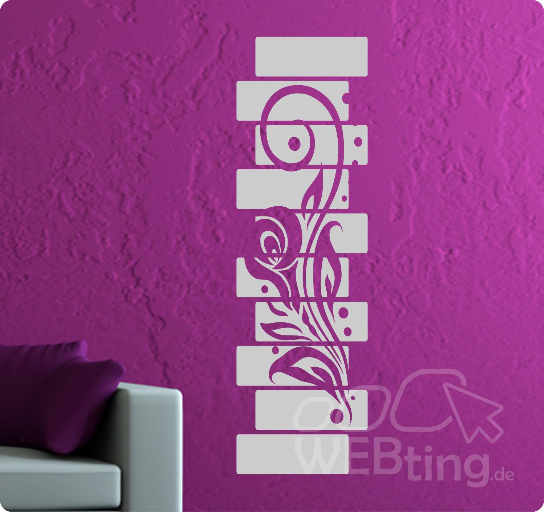 Großartig Wandtattoo Streifen Galerie Von Banner Blumen Ranke Wandaufkleber Aufkleber Blumenranke Flur