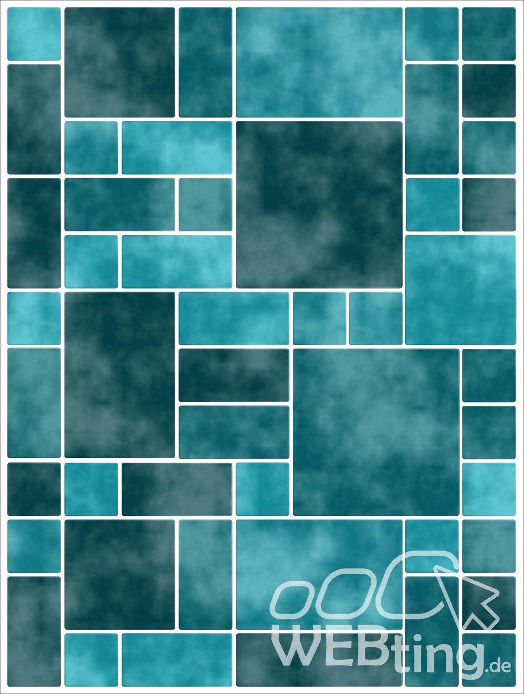 15x20cm t rkis fliesenaufkleber fliesen aufkleber fliesenimitat mosaik m8 - Selbstklebefolie mosaik ...