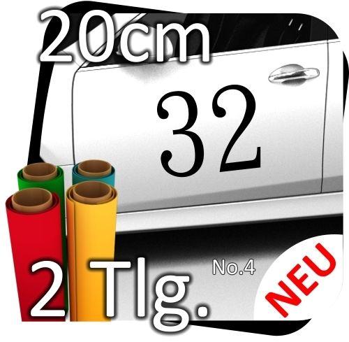 2x-20cm-Nummer-frei-whlbar-Startnummer-Auto-Autoaufkleber-Mottorrad-Sport-No4-170767008091