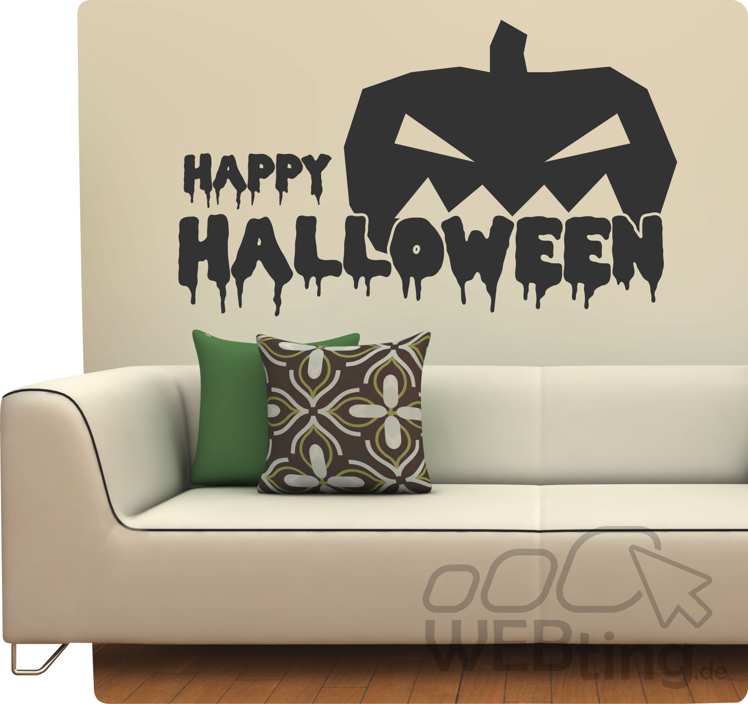 halloween k rbis fledermaus deko wandtattoo wandaufkleber aufkleber sticker hexe. Black Bedroom Furniture Sets. Home Design Ideas