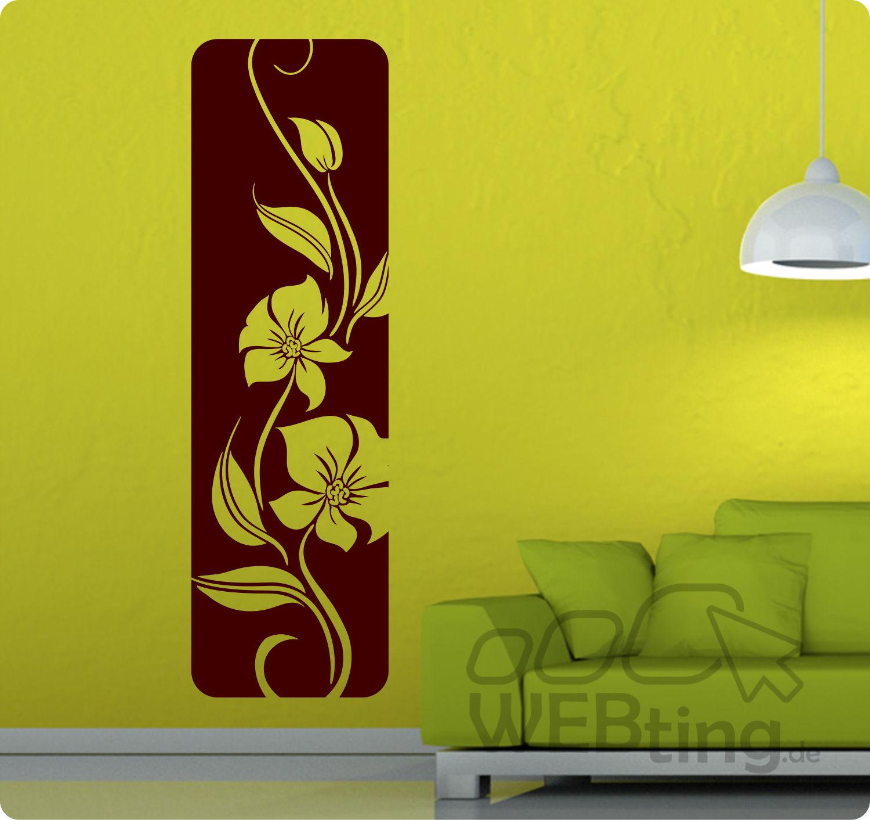Einzigartig Wandtattoo Streifen Sammlung Von Xxl Banner Blumen Ranke Wandaufkleber Aufkleber Deko