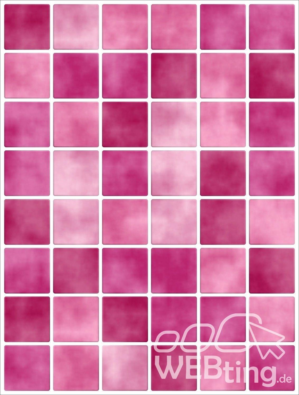20x25cm pink rosa fliesenaufkleber fliesen aufkleber fliesenimitat mosaik m4pi. Black Bedroom Furniture Sets. Home Design Ideas