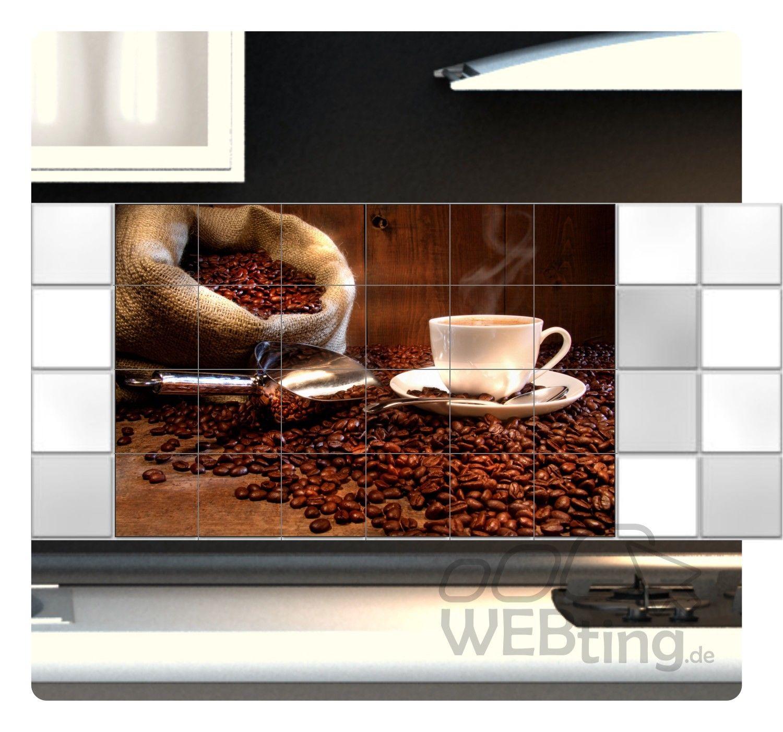 fliesenaufkleber fliesenbild fliesen aufkleber sticker kaffee bohnen k che bild. Black Bedroom Furniture Sets. Home Design Ideas