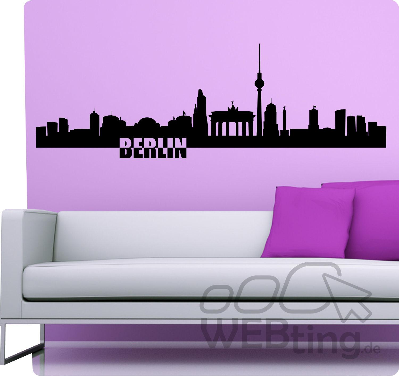 xxl wandtattoo skyline berlin wandaufkleber aufkleber. Black Bedroom Furniture Sets. Home Design Ideas