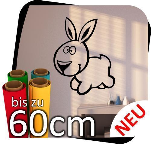 Huis lustige Tierchen Aufkleber Hase Wandtattoo Sticker Fensteraufkleber Tier No.4 Binnenhuisinrichting