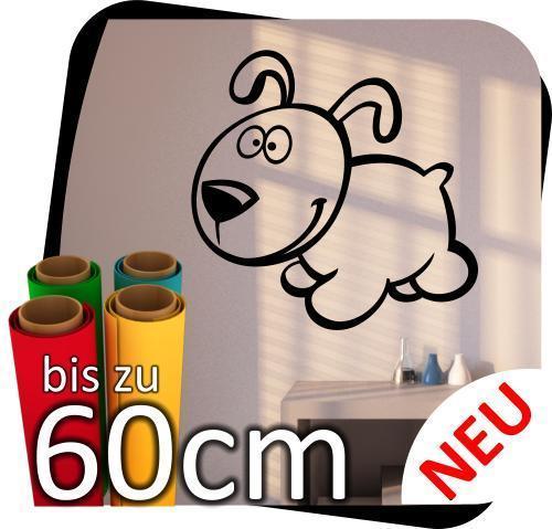 Lustige Tierchen Aufkleber Hund Wandtattoo Sticker Fensteraufkleber
