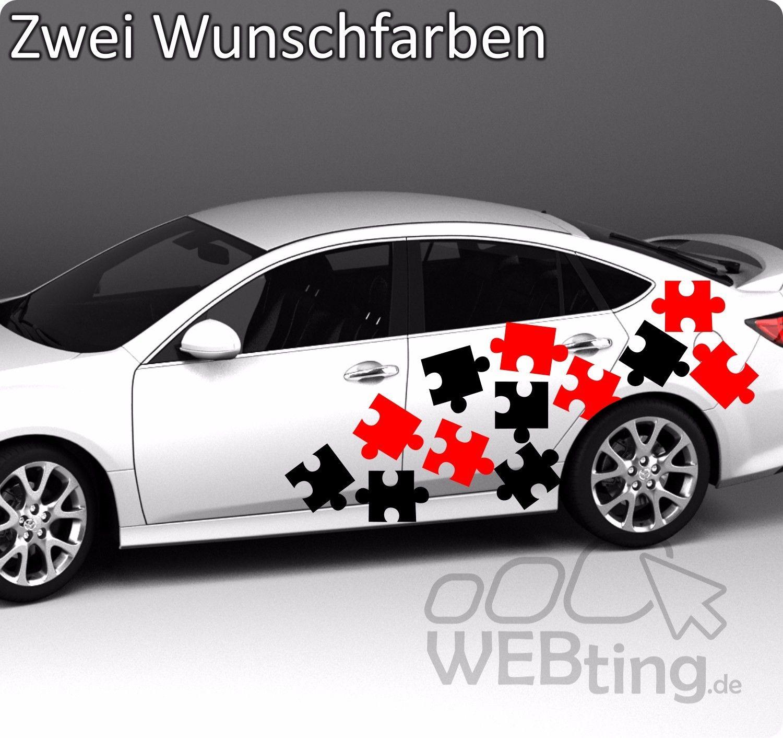 Camouflage Puzzle Sticker Stripe Rally Autoaufkleber Seitenaufkleber Aufkleber
