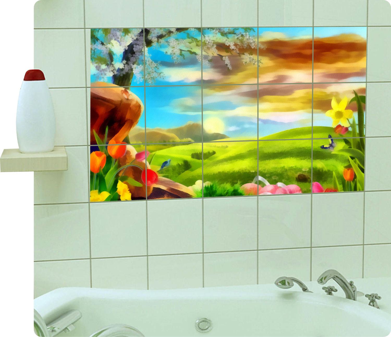 Fliesenaufkleber Fliesenbild Fliesen Aufkleber Sticker Badezimmer Küche Gemälde