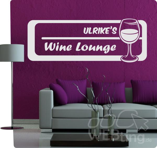 Wunschname-Wunschtext-Name-Wine-Lounge-Wandtattoo-Wandaufkleber-Aufkleber-No10-170969968913