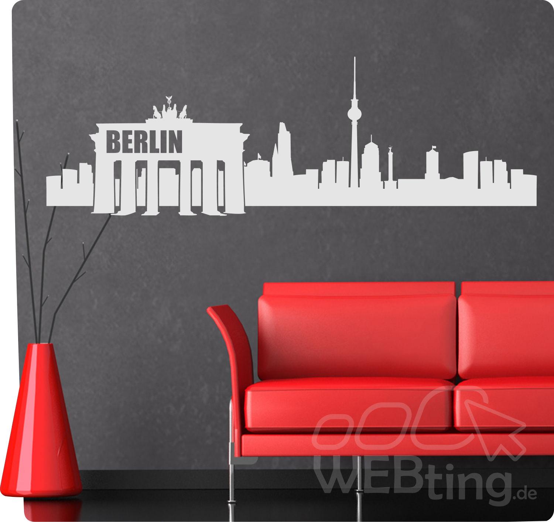Beeindruckend Wandtattoo Berlin Ideen Von Xxl Skyline Wandaufkleber Aufkleber