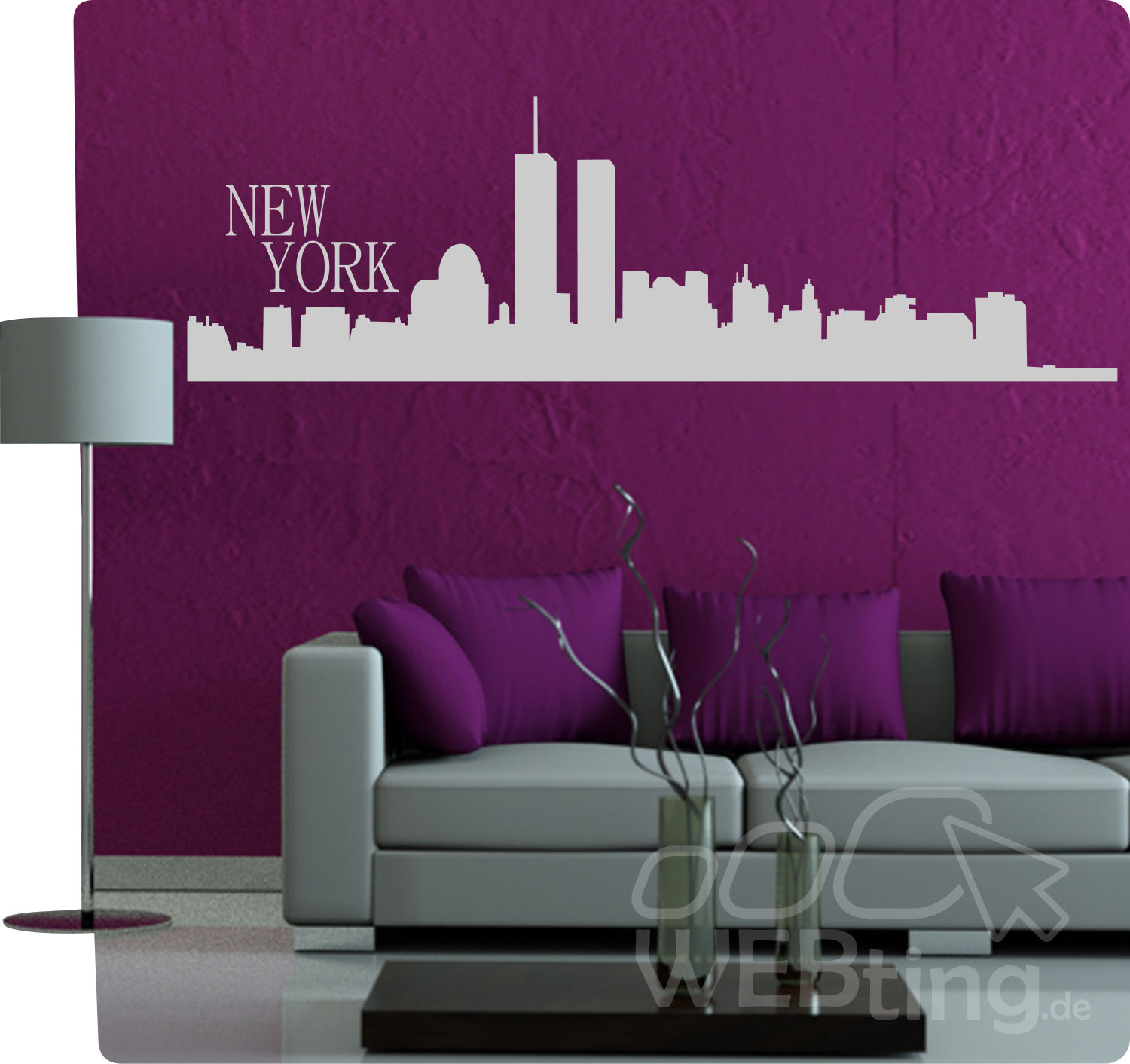 wandtattoo skyline usa reuniecollegenoetsele. Black Bedroom Furniture Sets. Home Design Ideas