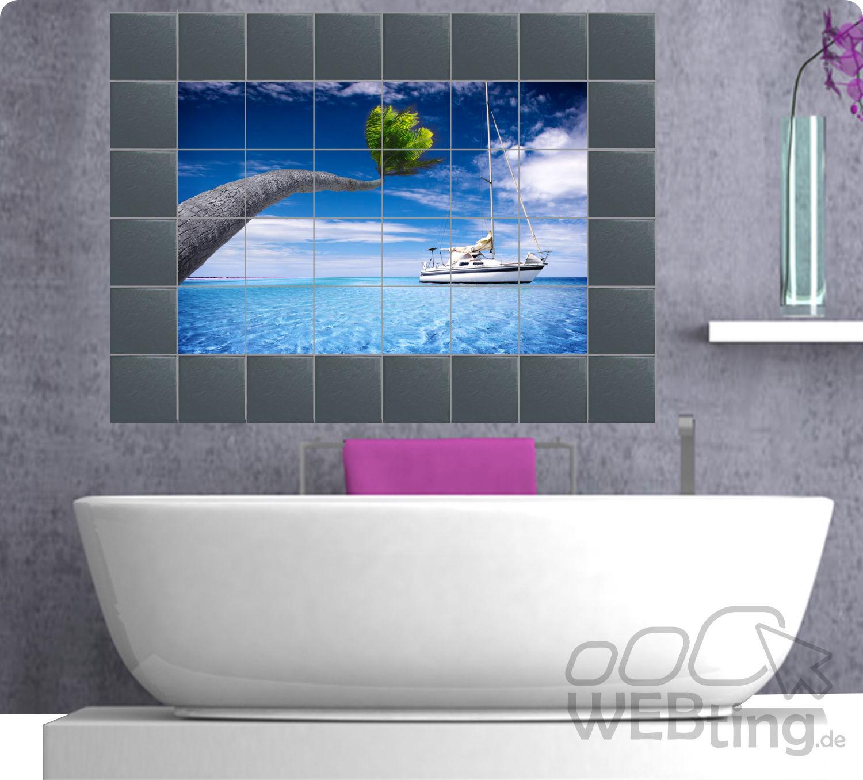 fliesenaufkleber fliesenbild fliesen aufkleber sticker badezimmer bad folie. Black Bedroom Furniture Sets. Home Design Ideas
