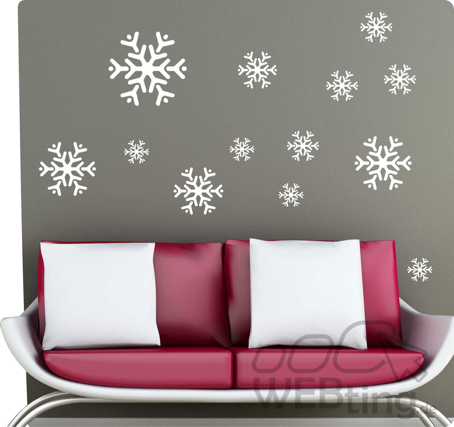schneeflocke winter fensterdeko fenster weihnachten wandaufkleber aufkleber deko. Black Bedroom Furniture Sets. Home Design Ideas