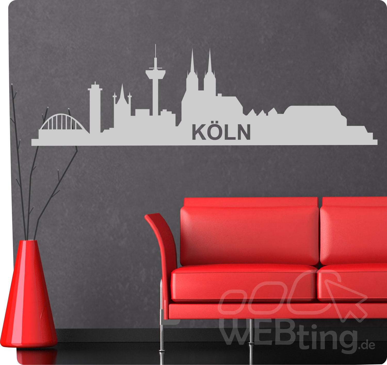 Anspruchsvoll Wandtattoo Köln Sammlung Von Xxl Skyline Köln Wandaufkleber Aufkleber