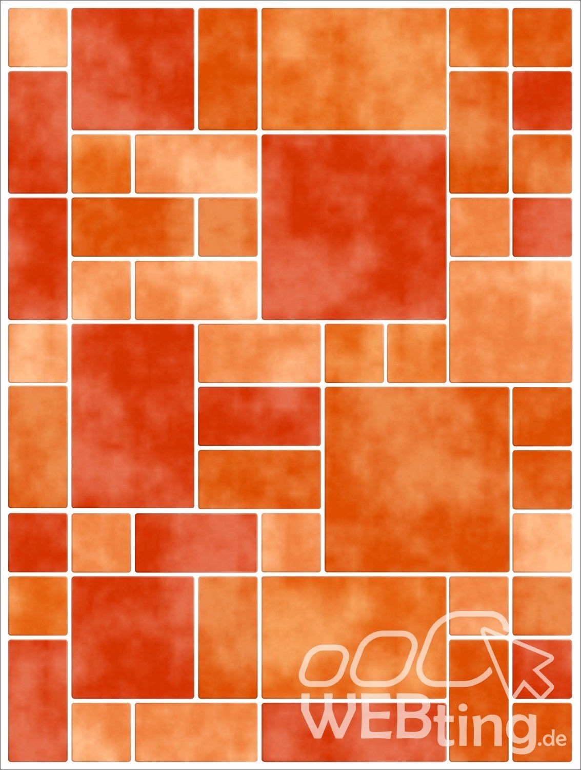 15x20cm orange fliesenaufkleber fliesen aufkleber fliesenimitat mosaik m8. Black Bedroom Furniture Sets. Home Design Ideas