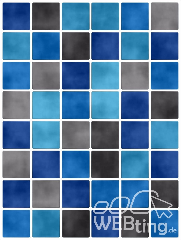 20x25cm Blau Fliesenaufkleber Fliesen Aufkleber Fliesenimitat Mosaik M5