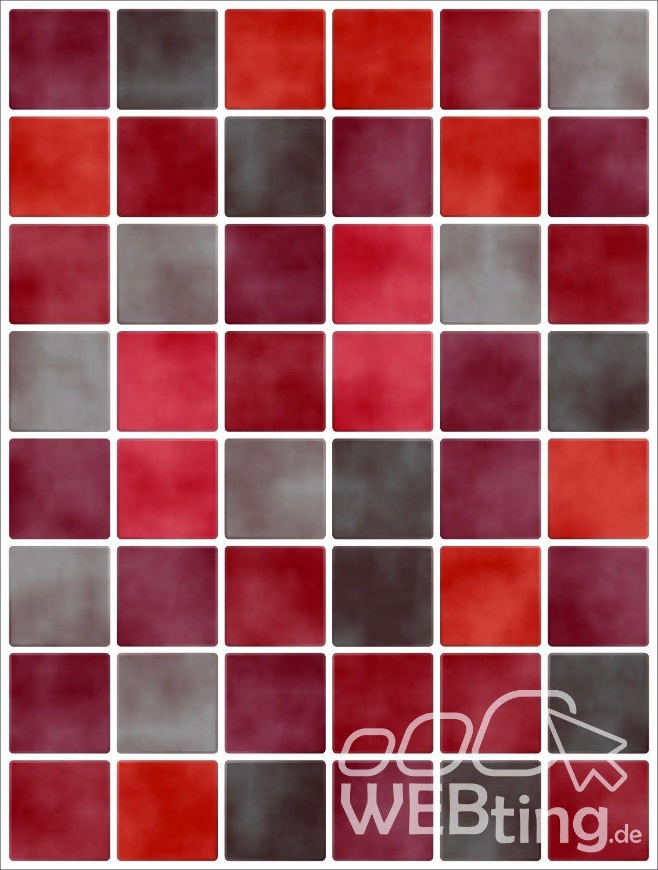 20x25cm rot fliesenaufkleber fliesen aufkleber fliesenimitat mosaik m5 - Selbstklebefolie mosaik ...