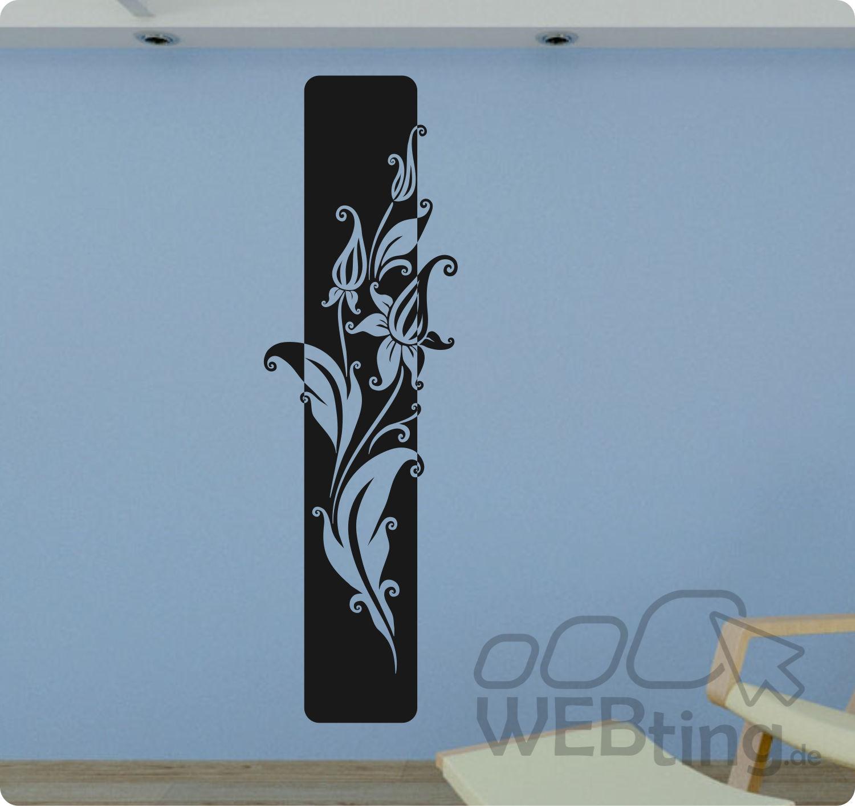 Bezaubernd Wandtattoo Streifen Das Beste Von Xxl Banner Blumen Ranke Wandaufkleber Aufkleber Deko