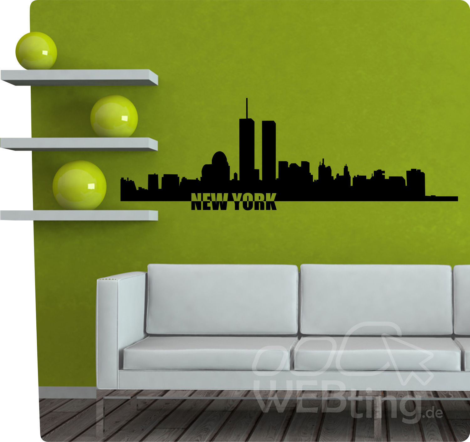 xxl wandtattoo skyline new york usa wandaufkleber aufkleber sticker deko. Black Bedroom Furniture Sets. Home Design Ideas