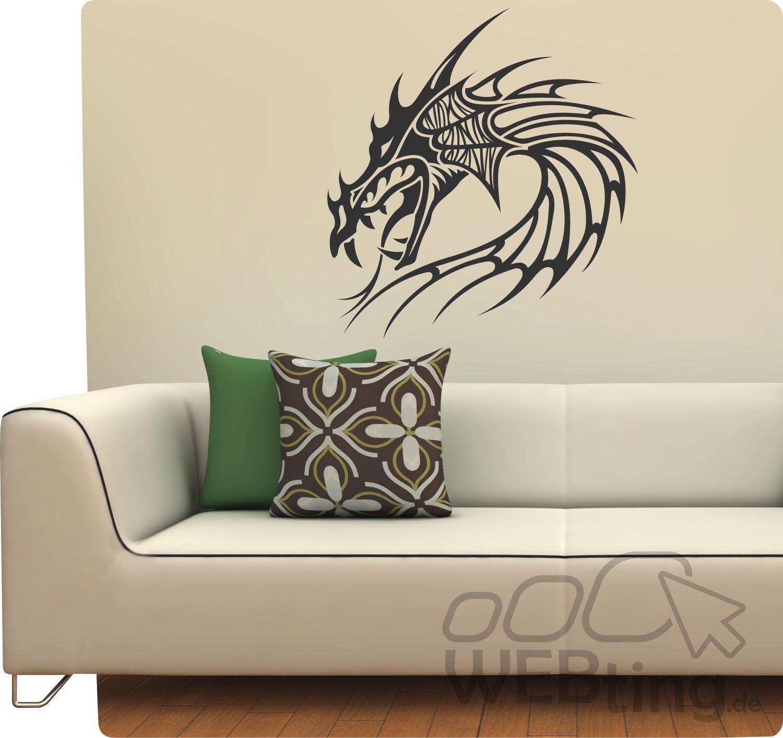 Entzückend Wandtattoo Drachen Das Beste Von Dragon Drache Wandfolie Wandaufkleber Aufkleber Tattoo Banner