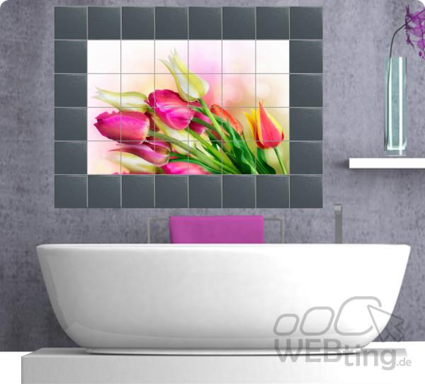 Fliesenaufkleber-Fliesenbild-Fliesen-Aufkleber-Sticker-Blumen-Wellness-Kerzen-181295706816