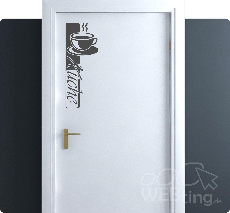 Küche Türaufkleber Tür Wandtattoo Wandaufkleber Aufkleber Deko Sticker  Hinweis