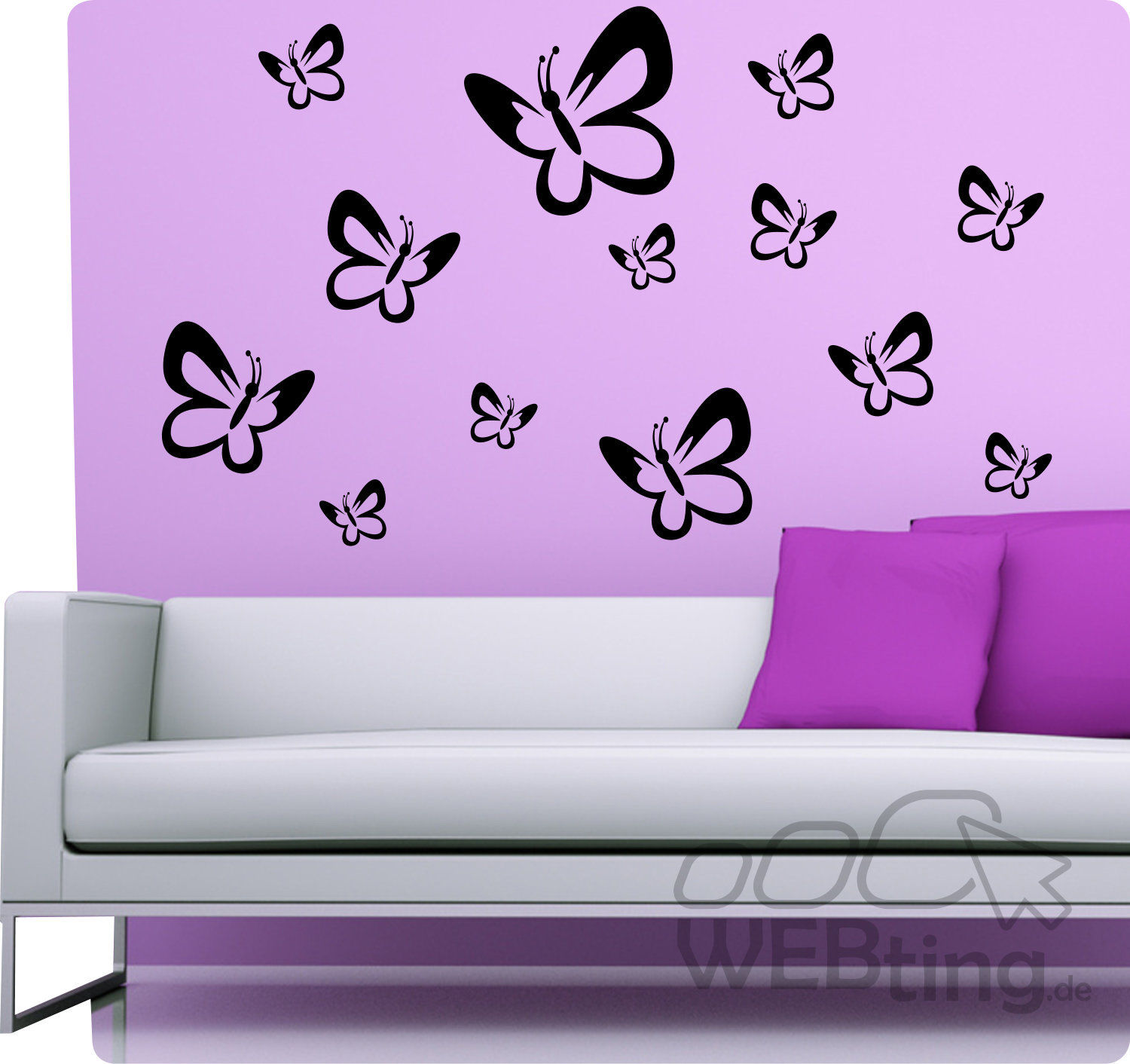 schmetterling wandtattoo wandaufkleber aufkleber deko. Black Bedroom Furniture Sets. Home Design Ideas