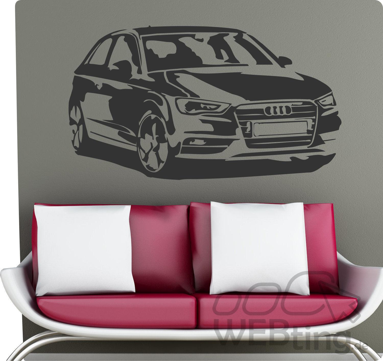 wandtattoo audi a3 auto s line a4 wandaufkleber motorsport. Black Bedroom Furniture Sets. Home Design Ideas