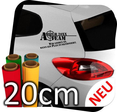 20cm Aufkleber Abi Abitur JDM Tuning Autoaufkleber Tattoo Sticker Wunschtext 10