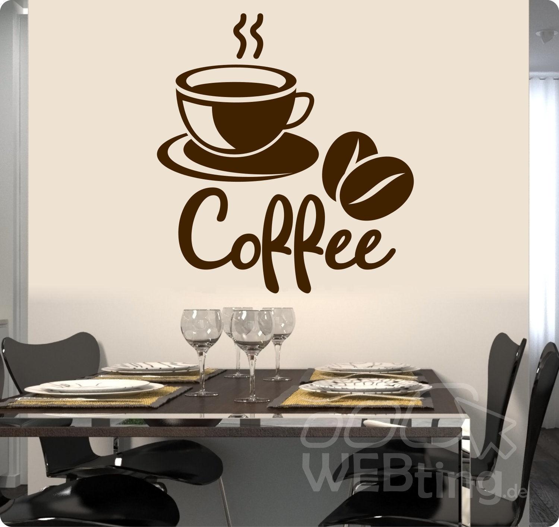 coffee kaffee wandaufkleber aufkleber küche sticker wandtattoo ... - Wandtattoos Küche Kaffee