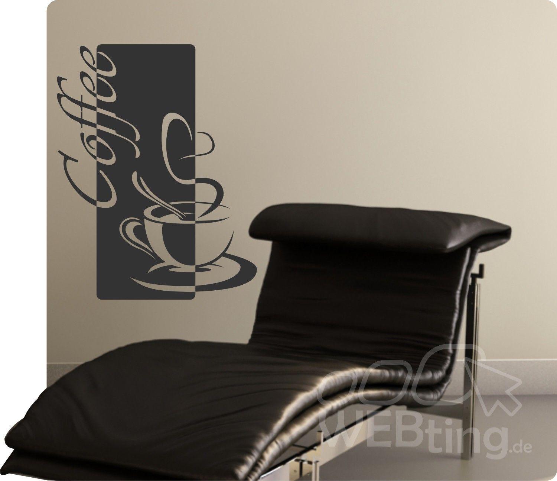 Coffee Kaffee Wandaufkleber Aufkleber Küche Sticker Wandtattoo Tattoo Spruch