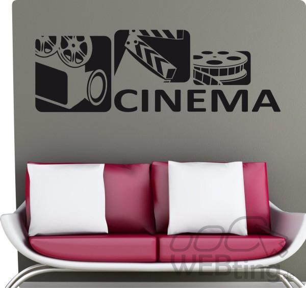 Film-Kino-Cinema-Retro-Wandtattoo-Wandaufkleber-Aufkleber-Sticker-Deko-No6-170902430847