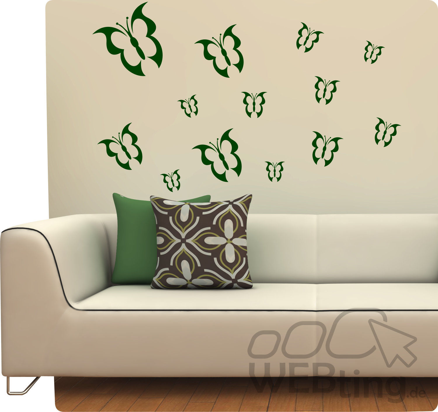 schmetterling wandtattoo wandaufkleber aufkleber deko sticker ranke butterfly. Black Bedroom Furniture Sets. Home Design Ideas