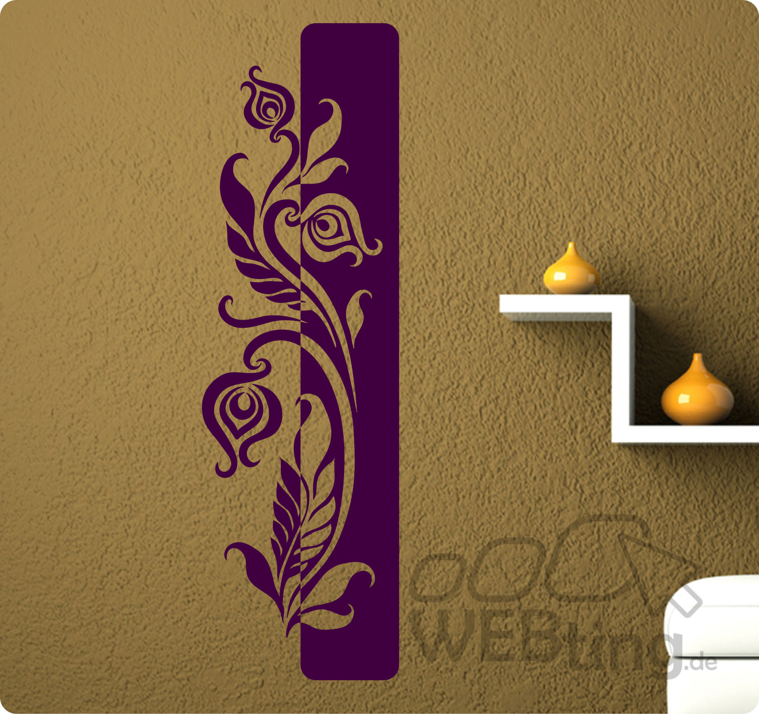 wandtattoo banner blumen ranke wandaufkleber aufkleber streifen bl ten motiv. Black Bedroom Furniture Sets. Home Design Ideas