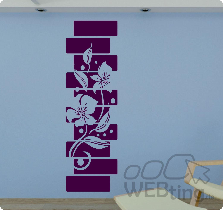 Entzückend Wandtattoo Streifen Das Beste Von Xxl Banner Blumen Ranke Wandaufkleber Aufkleber Deko