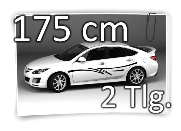 175cm-Seitenaufkleber-Stripe-Carstyling-Tuning-Autotattoo-Aufkleber-Set-180757171318