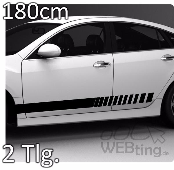 180cm-Stripe-Rally-Autoaufkleber-Seitenaufkleber-Streifen-Aufkleber-Racing-33-180879891248