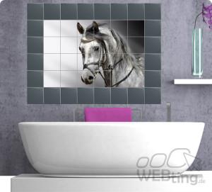 Fliesenaufkleber Fliesenbild Fliesen Aufkleber Sticker Badezimmer Pferd  Afrika