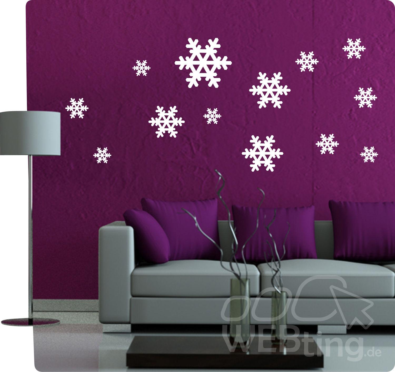 schneeflocke eiskristall fensterdeko fensterbilder wandaufkleber aufkleber deko. Black Bedroom Furniture Sets. Home Design Ideas